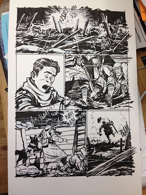 Dogs of War original art comic book graphic novel by Nathan Fox