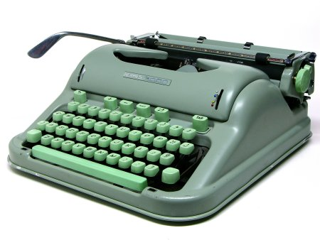 aqua blue typewriter