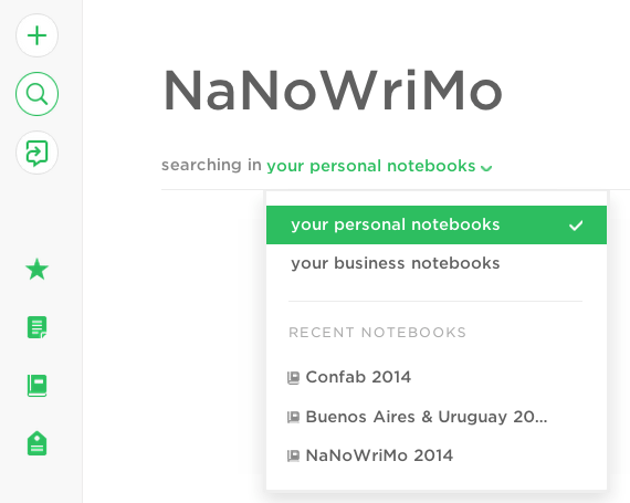 Evernote + Nanowrimo = writerly nirvana?