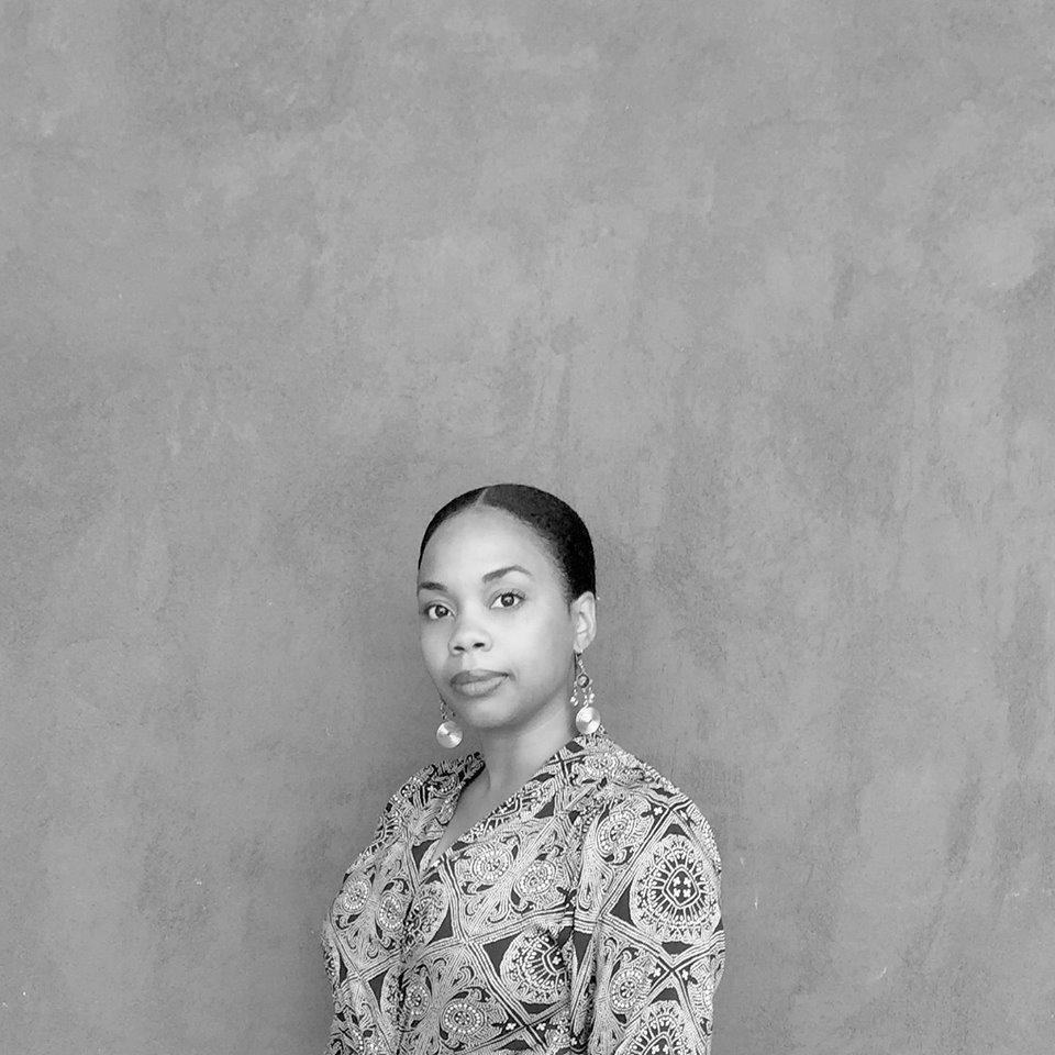 Black and white photograph of Nadia Delane.