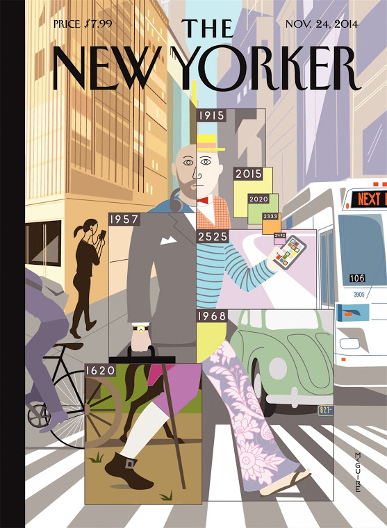 The New Yorker cover by Richard McGuire