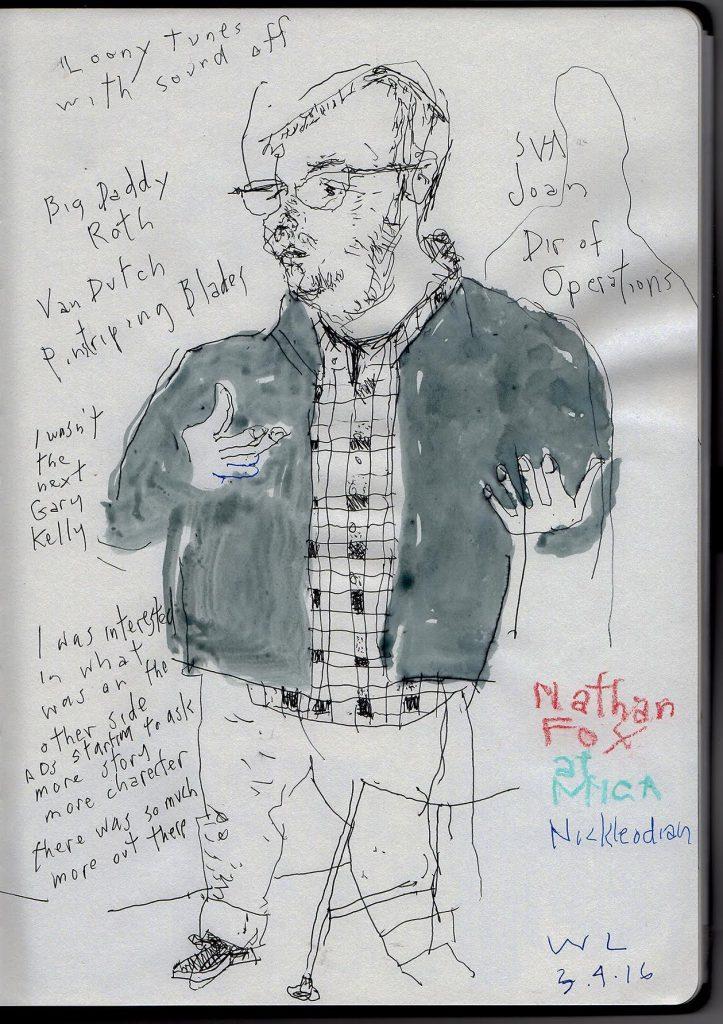 Warren Link sketch of Nathan Fox
