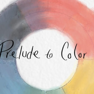 A desaturated color wheel roughly drawn in.