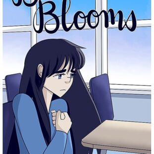 Cover to 'Becca Blooms' comic with Becca looking sad and unsure as she sits at a desk in her classroom