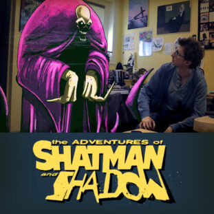 Jason Shatman speaks with his animated taunter, Shadow.