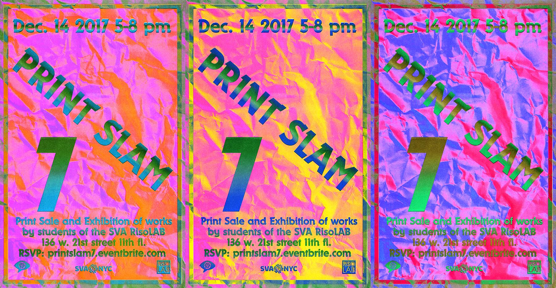 PRINT SLAM poster