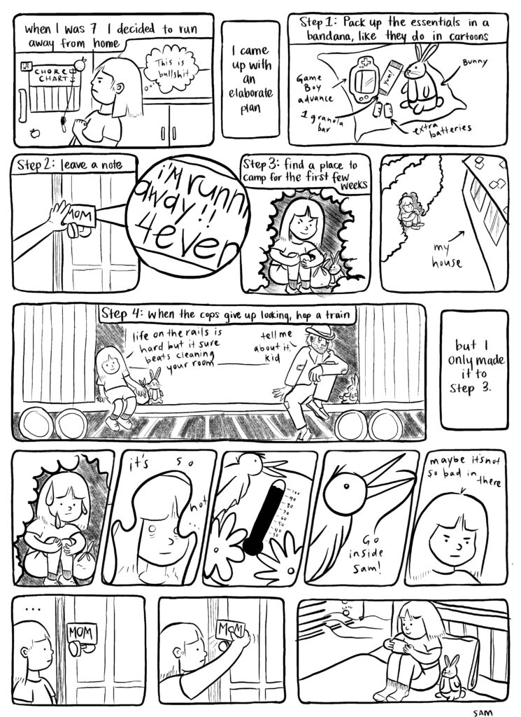 A comic book page by Sam Speedy