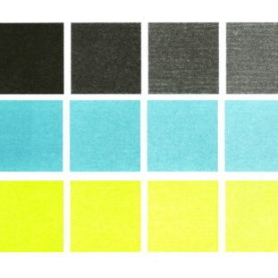 A color map of black, blue and yellow for the Risograph duplicator